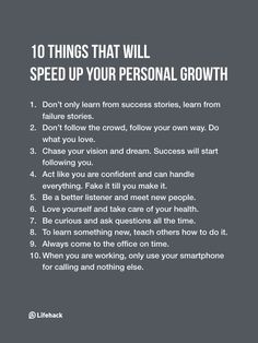 Inspirational Quotes: Take Note Of These 10 Things If You Want To Accelerate Your Personal Growth. Positive Quotes, Motivational Quotes, Inspirational Quotes, Strong Quotes, Life Advice, Good Advice, Self Development, Personal Development, Leadership Development