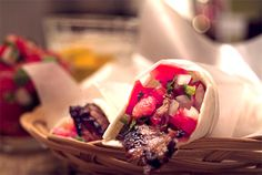 Carne Asada Tacos using Kikkoman's new Ponzu Lime Sauce - grilled marinated…