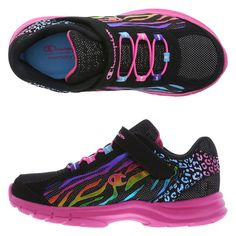 new concept f80af 35b6c  24.99 Champion Girls  Blast Lightweight Runner, Black Hot Pink Lightweight Running  Shoes,