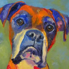 Image result for colorful boxer dog paintings