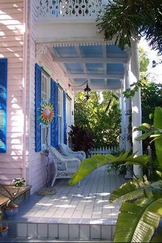my future porch must have a haint blue ceiling to keep the bad juju away