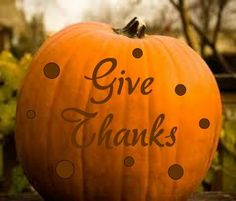 Give Thanks Vinyl Decal with dots for by LoneStarGraphics on Etsy, $7.00