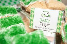 """Golf party food - """"sand traps"""""""
