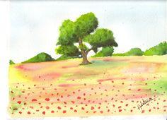L'arbre solitaire en plein été...