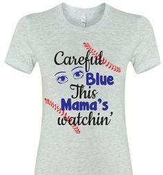 Baseball mom Shirt Softball mom shirt Careful Blue by TShirtNerds