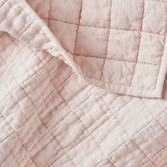 Sale ends soon. Shop Blush Belgian Flax Quilts and Pillow Shams. Pure linen chambray in softly variegated hues is quilted into a grid of squares. Our Belgian flax linen bedding is finished neatly with self-binding tailoring.