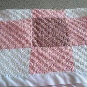 A diagonal baby blanket to crochet pattern.
