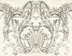 The Sum Of All Crafts: image collection-ornamentation Colour Architecture, Baroque Architecture, Filagree Tattoo, Ornament Drawing, Baroque Art, Carving Designs, Stencil Art, Floral Illustrations, Mural Art