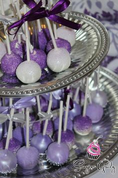 Purple Theme  Cake Balls