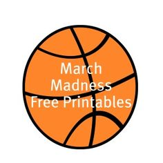 Free March Madness Basketball Party Printables