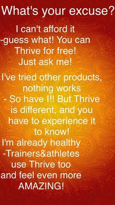 I am healthy and exercise.  It's the best thing I've ever done for my health and fitness goals. https://trailrunner1.le-vel.com/