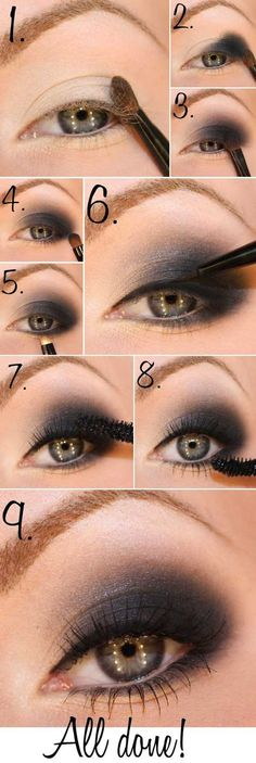 Try out this great smokey eye tutorial. Recreate the look with makeup from Beauty.com.