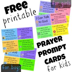 free printable prayer prompt cards for boys and girls