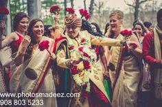 Baraat conducted by DJ Raj Entertaiment at Mahwah Sheraton - Indian Wedding. Gujarati Wedding. Best Wedding Photographer PhotosMadeEz, Award winning photographer Mou Mukherjee. Along with Caliber Farms
