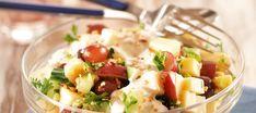 Omena-juustosalaatti Potato Salad, Potatoes, Ethnic Recipes, Food, Eten, Potato, Meals, Diet