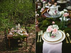 forested wedding inspiration - photo by Matt and Ashley Photography http://ruffledblog.com/whimsical-wonderland-shoot