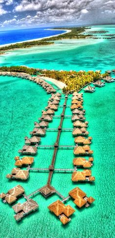 I want to go here!,, Bora Bora, Tahiti - this is absolutely a DREAM vacation spot! Honeymoon perhaps? (Assuming I ever find some poor schmuck crazy enough to marry me lol) Dream Vacation Spots, Vacation Places, Vacation Destinations, Dream Vacations, Honeymoon Places, Vacation Travel, Romantic Vacations, Italy Vacation, Tahiti Vacations