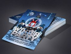Winter Party Flyer | Flyers For All Events Club Poster, Party Flyer, Flyers, Events, Winter, Cover, Winter Time, Ruffles, Leaflets