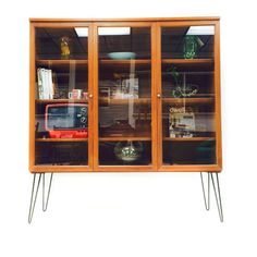 We call these danish robots ;) Mid Century Curio Cabinet from Atomic in Asheville, NC