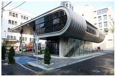 Shonzino Gas-Station by Barel Architectes, Tel Aviv, Israel