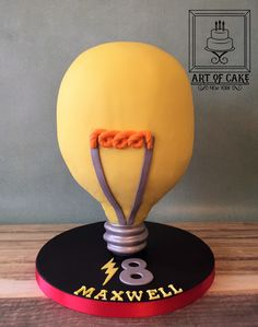18th Birthday LightBulb Cake 4D