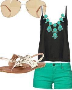 Summer fashion...love the green