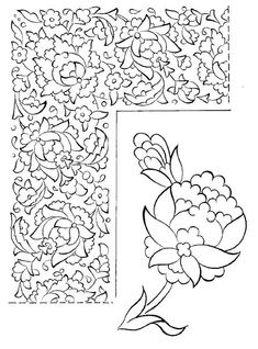 Hatai Motifi nasıl ve nereden bulabilirim? resimleri Islamic Motifs, Islamic Art Pattern, Persian Pattern, Persian Motifs, Border Pattern, Pattern Art, Motif Arabesque, Illumination Art, Islamic Wall Art