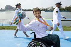 Az ezüstérmes Suba Róbert a rió paralimpia KL1-es kategória kajak 200 méteres…