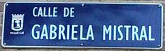 Calle Gabriela Mistral. Distrito Fuencarral-El Pardo. Callejero Madrid. Mujeres visibilización.