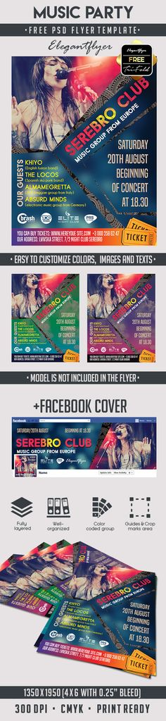 2434 best Free PSD Flyer Templates images on Pinterest Music Party     Free PSD Flyer Template
