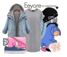 """""""Eeyore+"""" by leslieakay ❤ liked on Polyvore featuring Humble Chic, Swarovski, Keds, Salvatore Ferragamo, Vans, disney, disneybound, plussize and plus size dresses"""