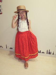 お久しぶりです😜 久しぶりのマーヤコーデ🎶 最近はロング丈のスカートが好きです❤ カンカン帽はD