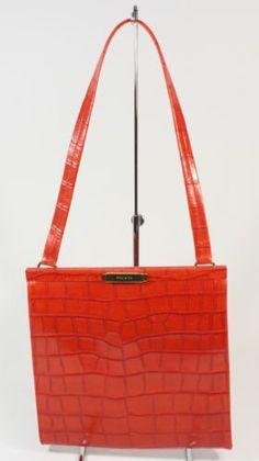 ESCADA Red Crocodile Handbag | eBay