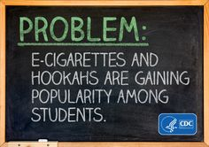 Use of e-cigarettes, cigars & hookahs are up among high schoolers and middle schoolers! These products are just as bad if not worse in some ways than cigarettes. Click the pic to read more about the study.