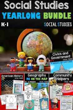 JUST WHAT YOU HAVE BEEN WAITING FOR>>>> Social Studies for the YEAR meeting your standards for K-1, covering everything! (Geography, Community Helpers, Civics, Government, American History, Wants and Needs and MONEY!)