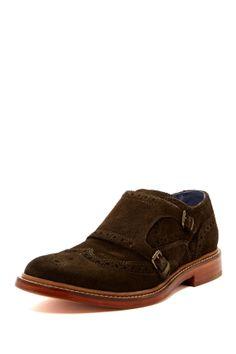 Brown Suede Harrison Monk Strap Shoe, by Cole Haan Air, via HauteLook. Men's Spring Summer Fashion.