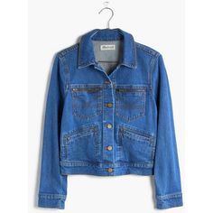 Madewell x Daryl K® Jeff Jean Jacket ($80) ❤ liked on Polyvore featuring outerwear, jackets, daryl wash and madewell