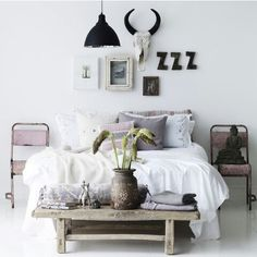 winter white vintage room bedroom design Home boho bohemian Interior Interior Design house sleeping interiors decor decoration lifestyle minimalism minimal simple deco nordic scandinavian Scandinavian interior architcture Home Decor Inspiration, Interior, Home, Home Bedroom, Bedroom Interior, Room Inspiration, House Interior, Apartment Decor, Interior Design