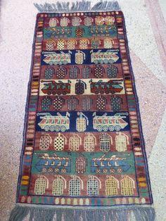Hand woven war rug, Afghan war rug, Baluch war rug, size 120 cm x 60 cm #Tribal