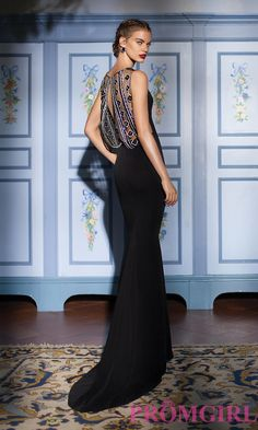 Prom Dresses, Celebrity Dresses, Sexy Evening Gowns: Evening Gown with a Sheer Back by Tarik Ediz