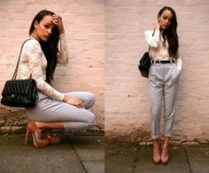 "Chanel Bag, Brian Atwood Shoes, American Apparel Pants //""Pretty Painful"" by Ashley M // LOOKBOOK.nu"