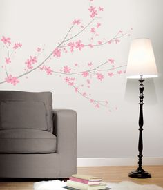 Sisustustarrat - Sisustuskuvatarrat - Kirsikkapuu roosa - Hyvän Tuulen Puoti