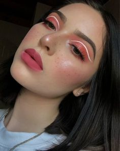 Red Dress Makeup, Pink Makeup, Cute Makeup, Pretty Makeup, Colorful Makeup, 60s Makeup, Elegant Makeup, Makeup 2018, Glowy Makeup