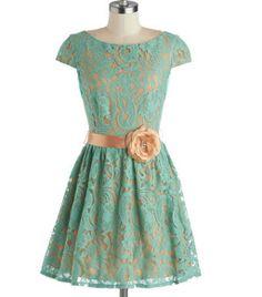 Mint to Dazzle Dress, ahhhh dream dress Mint Dress, Lace Dress, Green Dress, Pretty Dresses, Beautiful Dresses, Gorgeous Dress, Knee Length Bridesmaid Dresses, Teal Bridesmaids, Retro Vintage Dresses