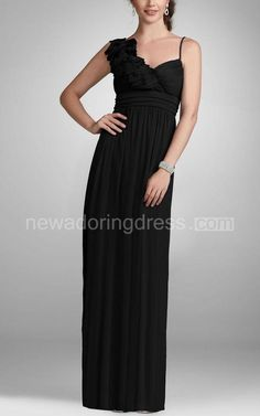 US$80.55-Sleeveless Chiffon Black Long Bridesmaid Dress With Ruffled Shoulder. http://www.newadoringdress.com/sleeveless-chiffon-gown-with-ruffled-shoulder-p310552.html.  Shop for long dresses, designer dresses, casual dresses, occasion dresses, backless dresses, elegant dresses, black tie dresses, We have great 2016 fall bridesmaid dress for sale. Avialble in Gold, Yellow, Pink, Lavender Burgundy, Peach…#NewAdoringDress.com.