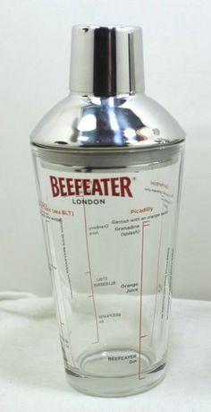 Cocktail Shaker, Mixer, Strainer Pourer, Stainless Lid and Cap BEEFEATER #Beefeater Cocktail Shaker, Orange Juice, Gin, Mixer, Barware, Cocktails, Glasses, Store, Ebay