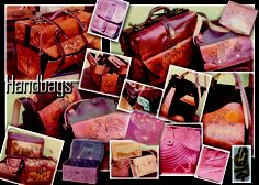 Some of my leather cases, sling and tote bags designs from long ago