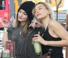 Celebrity bffs Hailey Baldwin and Kylie Jenner. via MailOnline