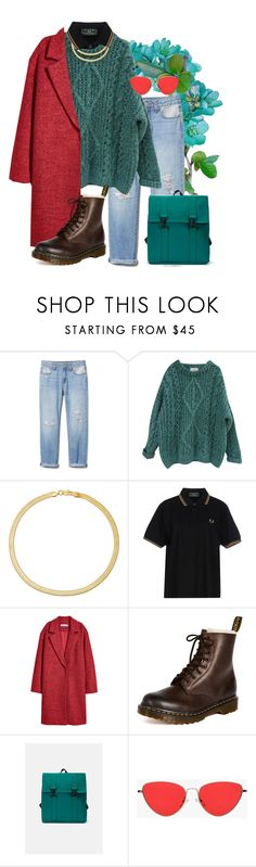 """""""Deep turquoise"""" by jessicajasr on Polyvore featuring Essentiel, Fred Perry, Dr. Martens and Rains"""