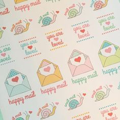 Whipped up some happy mail stickers...just because I really like happy mail. ☺️  #happymail #snailmail #amyjdelightfuldesigns